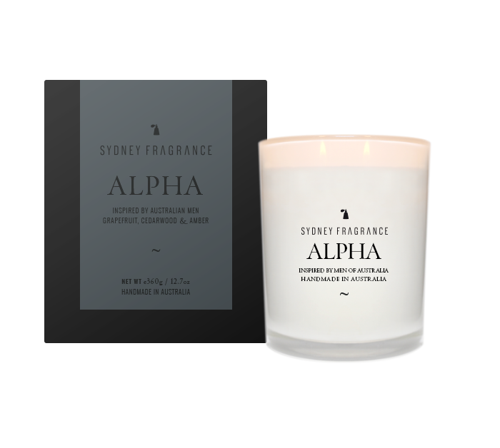 Sydney Fragrance Alpha Candle GRAPEFRUIT, CEDARWOOD & AMBER