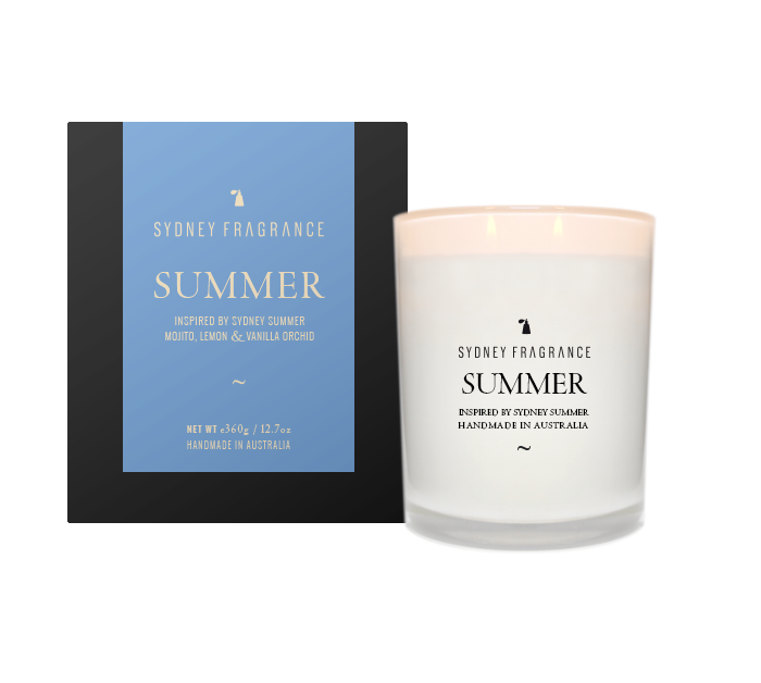Sydney Fragrance SUMMER Candle SUMMER MOJITO, LEMON & VANILLA ORCHID